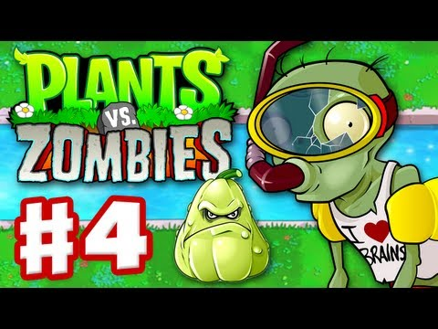 Plants vs. Zombies - Gameplay Walkthrough Part 4 - World 3 (HD)