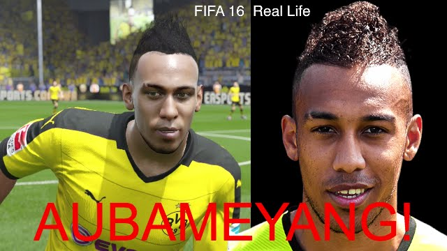 PIERRE-EMERICK AUBAMEYANG IN FIFA 16 AND PES ... - YouTube