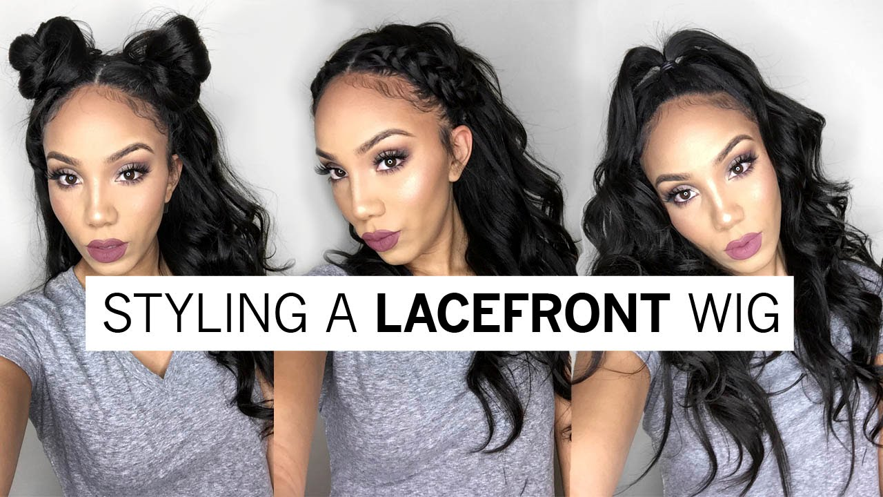 3 ways to style a full lace wig | holiday hairstyles ft wowafrican