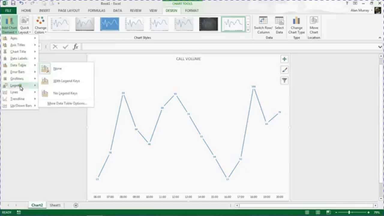 Add drop lines to a line graph in excel youtube ccuart Choice Image