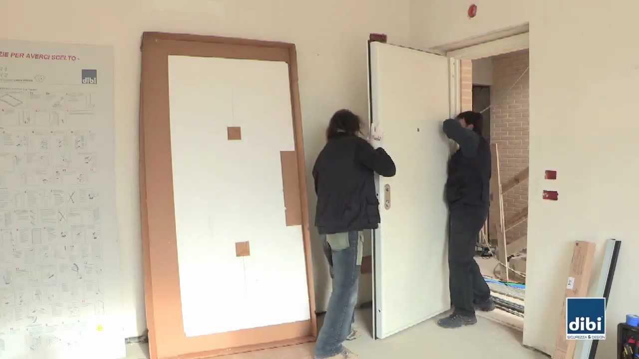 Montaggio anta su telaio di bi porte blindate youtube - Montaggio controtelaio porta ...