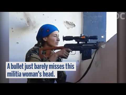 Kurdish Miltia Woman Narrowly Escapes Death