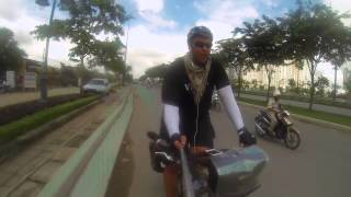 Vegan Bicycle Touring Vietnam, Leaving Ho chi Minh city and heading for the mountains! Vlog #33