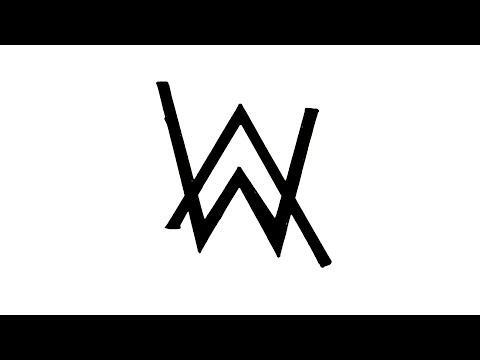 How to Draw the Alan Walker Logo