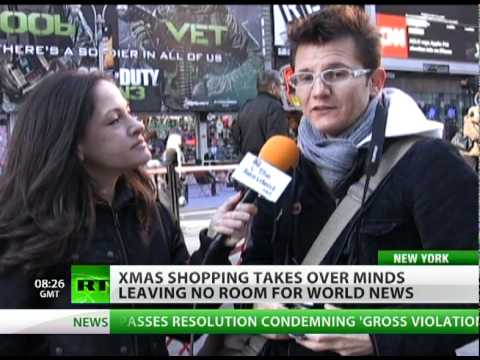Shopping seizes minds, leaves no room for world news?