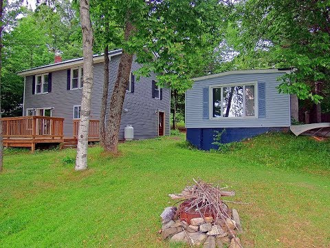 Lake Homes For Sale In Maine   2 Waterfront Properties! MOOERS REALTY #8647