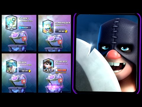 Clash Royale - 8 STRAIGHT LEGENDARIES! Executioner Gemming