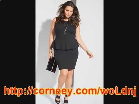 черное платье для полных женщин купить - YouTube