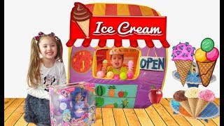 Dominika playing Ice Cream Shop with Toys