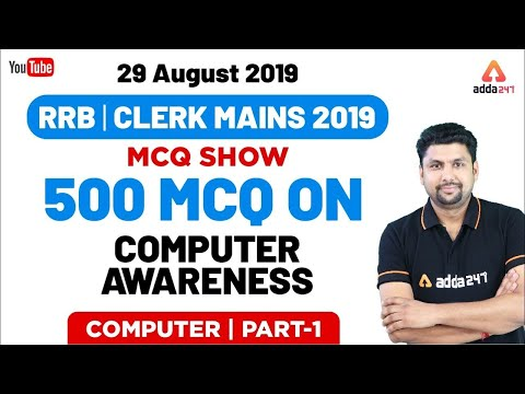 All Exams | Computer Awareness MCQ Show | 29 August 2019 | 500 MCQ On Computer Awareness | Part 1