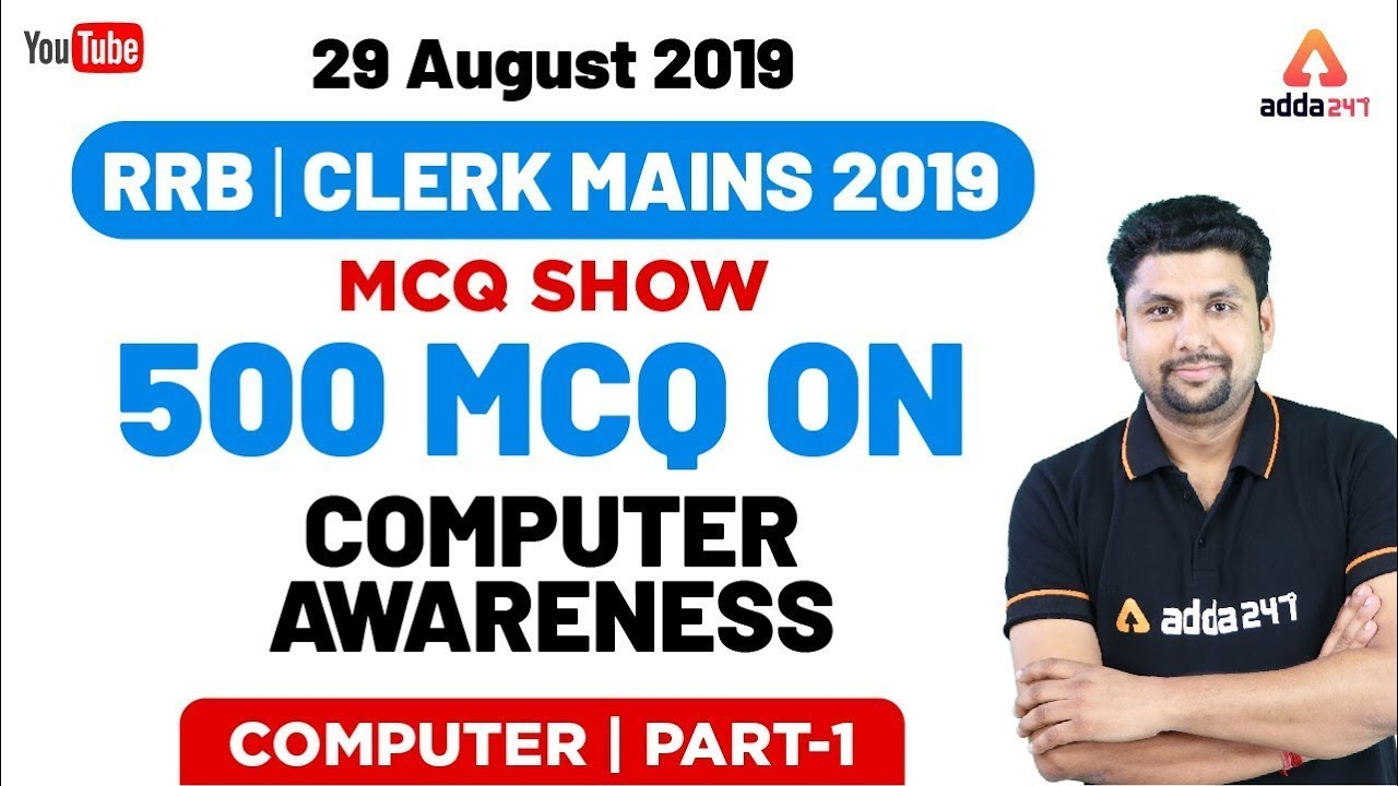 Download All Exams | Computer Awareness MCQ Show | 29 August 2019 | 500 MCQ On Computer Awareness | Part 1