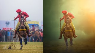 Photoshop Tutorial | Photo Manipulation ( Horse Ride )