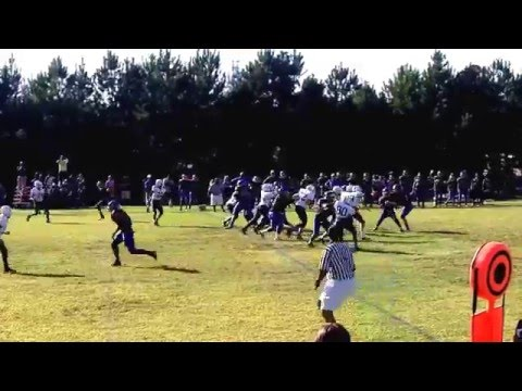 Daniels Middle School vs East Garner Middle School Football 2014