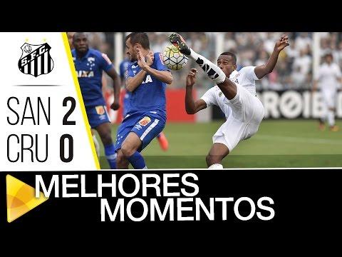 Santos 2 x 0 Cruzeiro | MELHORES MOMENTOS | Brasileirão (31/07/16)