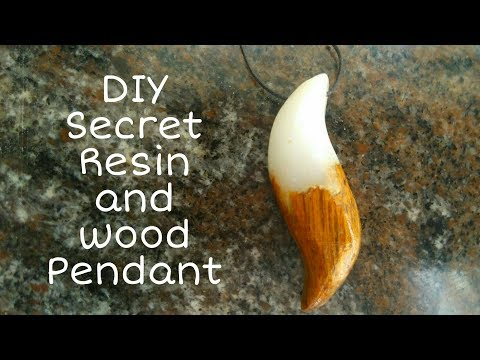 How to make DIY secret resin and wood pendant necklace| resinart | resin jewellery
