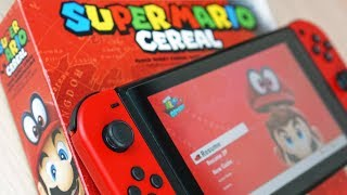 Super Mario Cereal amiibo TEST in Super Mario Odyssey   Delicious Gaming!