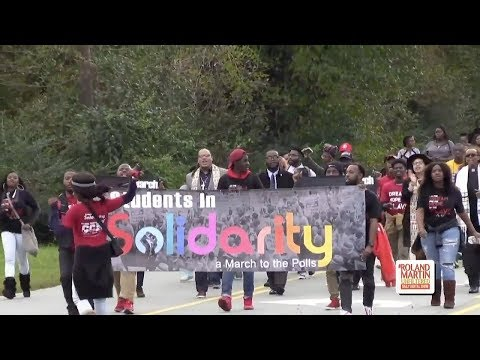 North Carolina A&T Students March Two Miles To Vote After GOP Denies On Campus Early Voting Location