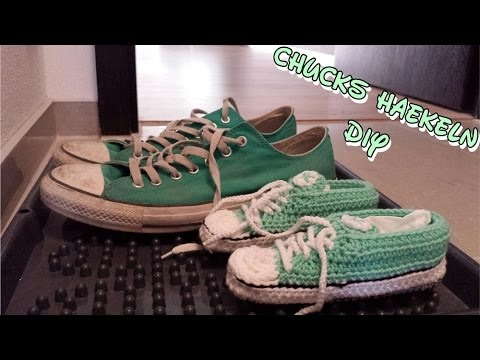 Diy Kinder Turnschuhe Chucks Häkeln Anleitung Youtube