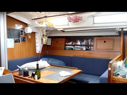 Inside a boat in a gale