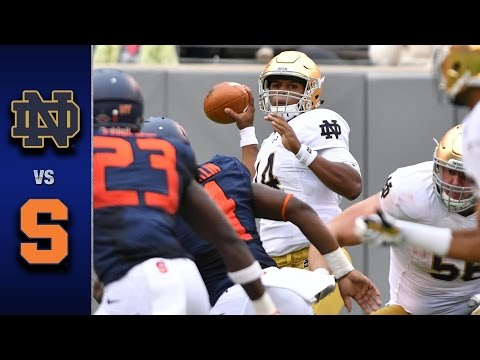 Notre Dame vs. Syracuse Football Highlights (2016)