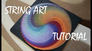 STRING ART TUTORIAL | TIMELAPSE | geometric hypnotizing picture
