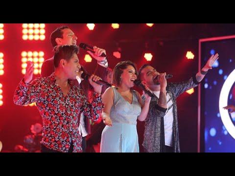Los Cuatro Finalistas le cantaron al Perú y emocionaron a todo el público