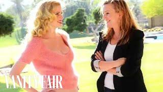 Lara Stone Interviewed by Vanity Fair's Krista Smith On Set With Justin Timberlake