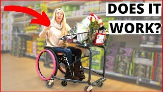 ♿️WHEELCHAIR SHOPPING CART | Is It Worth The Hassle?