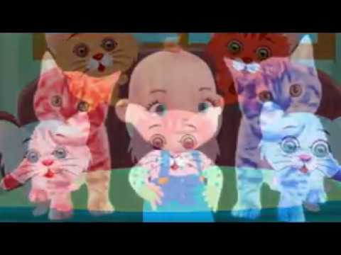 Little Baby Funny Cats Video Compilation | Five Little Babies Three Little Kittens Nursery Rhymes