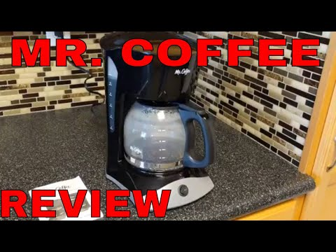 MR COFFEE 12 CUP COFFEE MAKER UNBOXING, DEMONSTRATION AND REVIEW