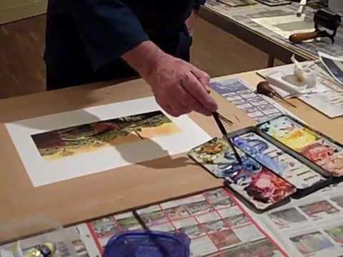 Paul Hipkiss print demo at Wolverhampton Art Gallery