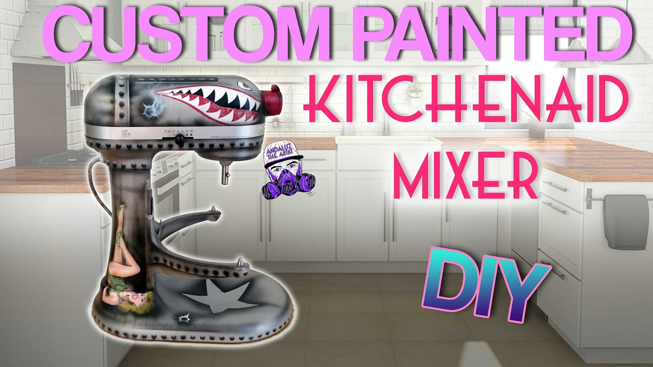 Custom Painted Kitchaid Mixer Fighter Jet Style