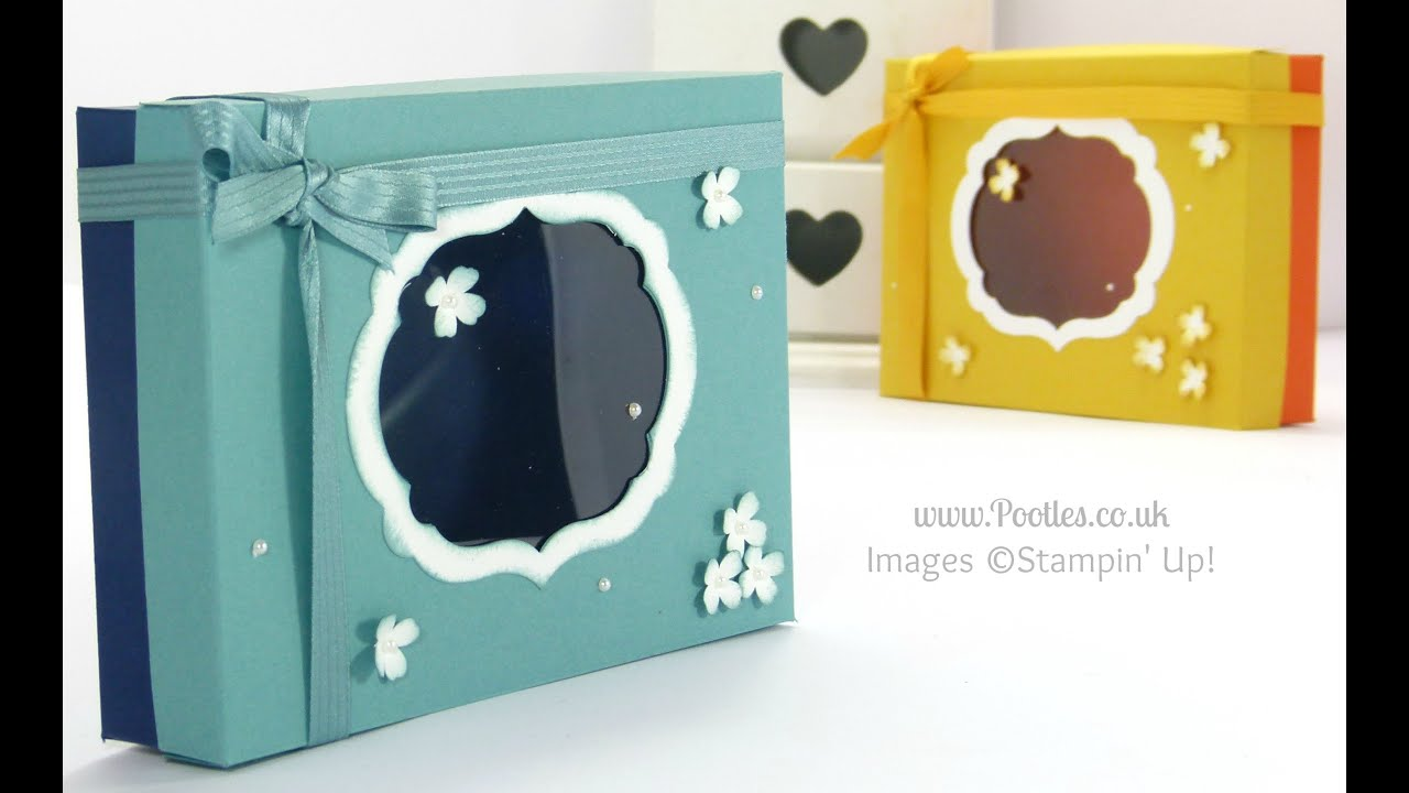 Thank You Card Box & Lid tutorial - YouTube