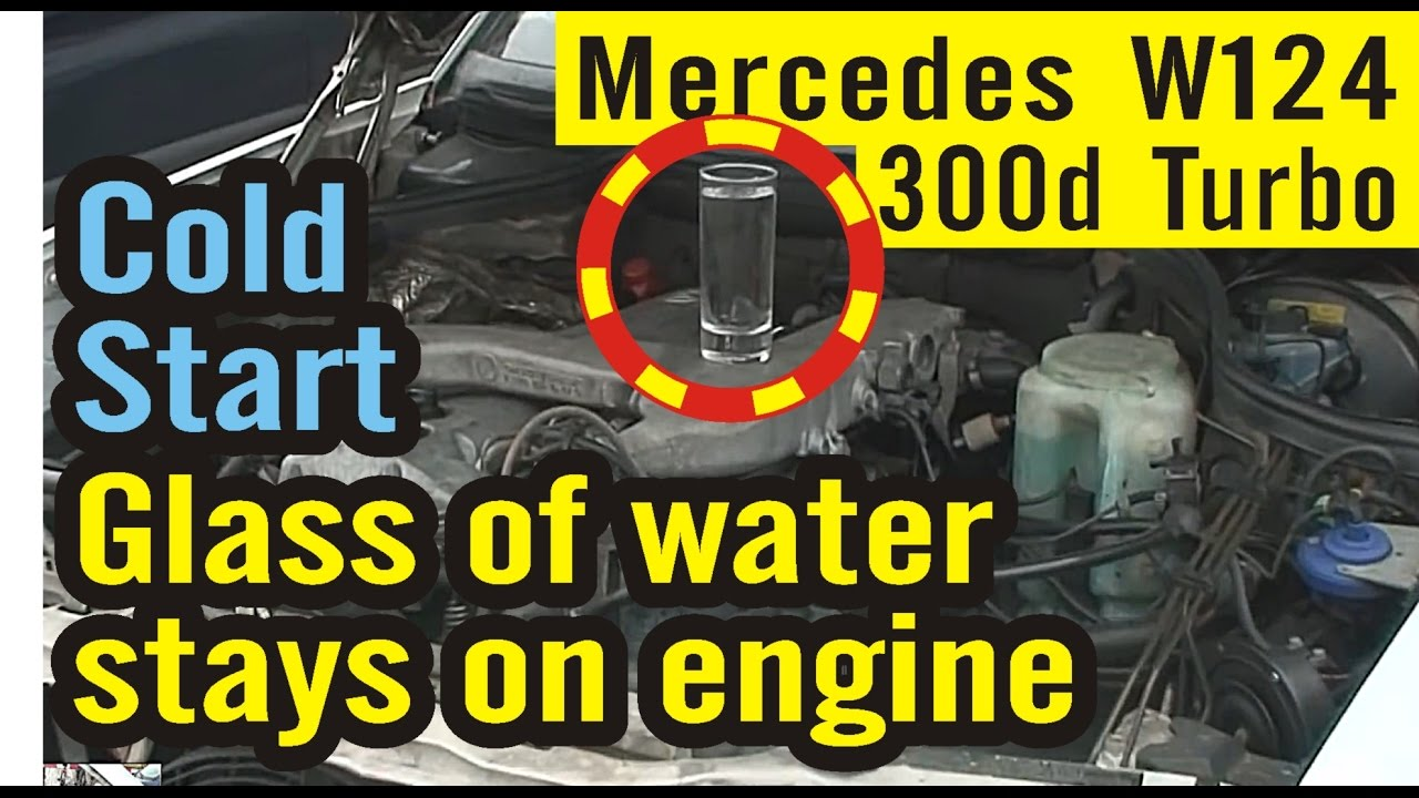 engine view mercedes w124 300d turbo om603 cold start. Black Bedroom Furniture Sets. Home Design Ideas