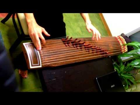 KUNG FU HUSTLE SONG - Played on a Korean Gayageum (가야금)