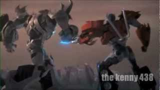 transformers prime optimus vs megatron 3D español latino