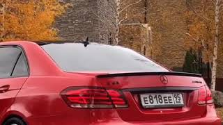 Mercedes Benz E212 63 AMG Выхлоп