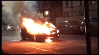 Car Suddenly Erupts into Flames on Brooklyn Avenue in Crown Heights