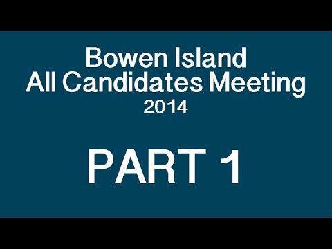 Bowen Island All Candidates Meeting 2014 PART 1