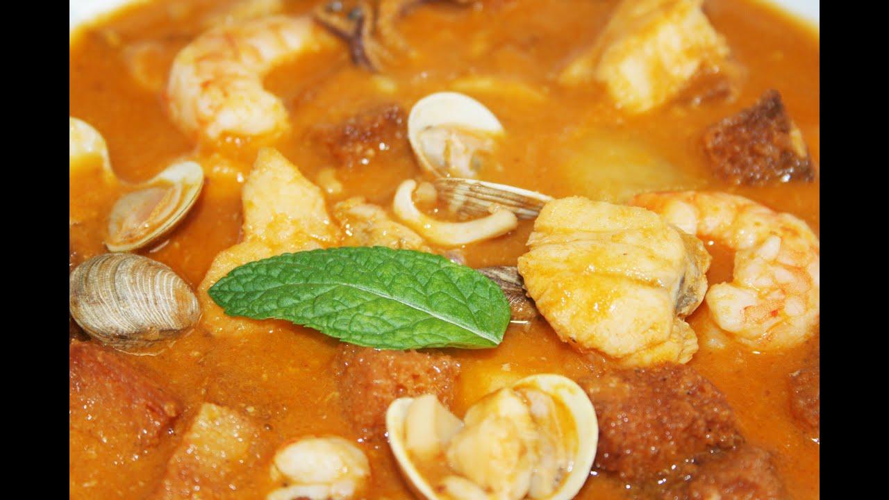 Sopa de pescado y marisco youtube - Sopa de marisco y pescado ...