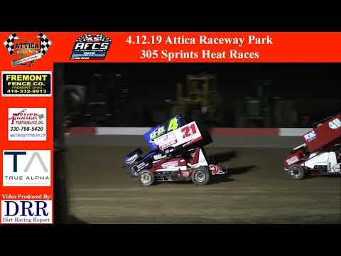 4.12.19 Attica Raceway Park 305 Sprints Heat Races