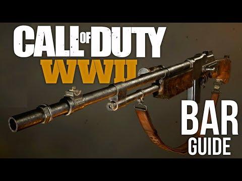 BAR - COD WW2 Gun Guide Ep. 1 (3 Minute Weapon Best Class Setup)