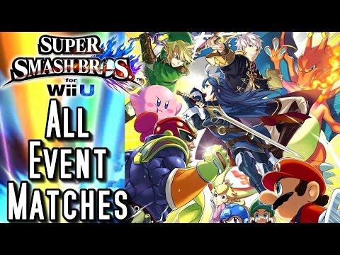 Super Smash Bros Wii U ALL EVENT MATCHES (HD) Part 1