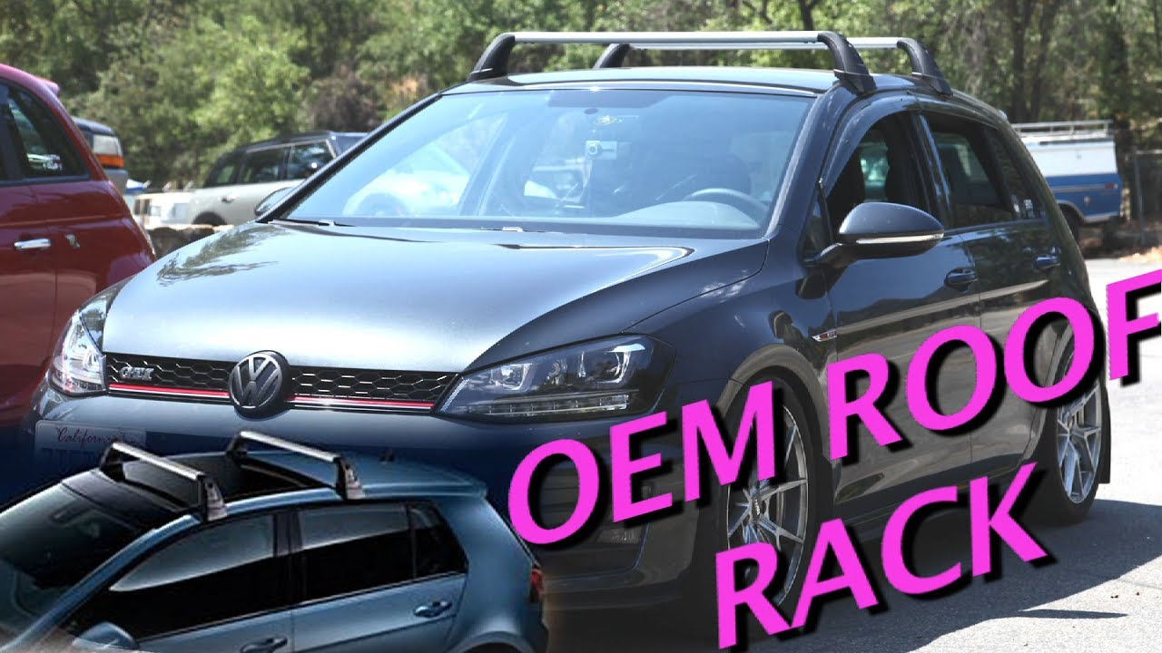 Vw Oem Roof Rack Mk7 Gti Youtube