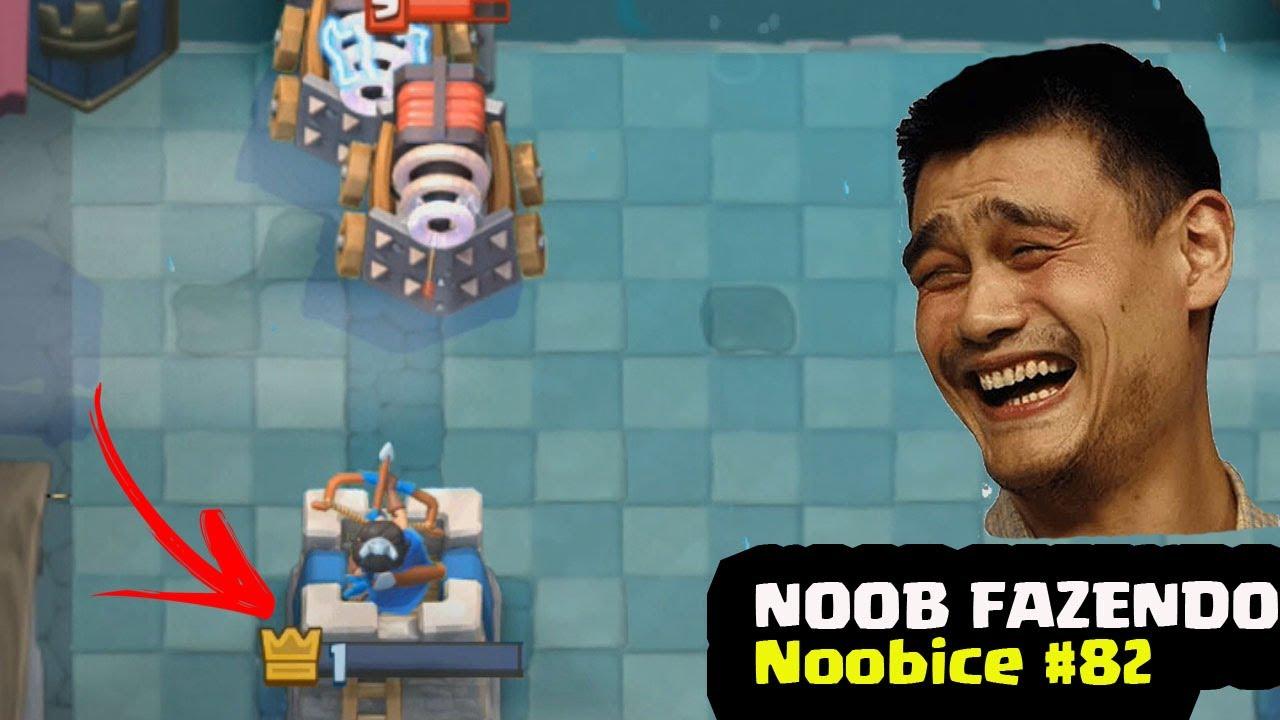 NOOB FAZENDO NOOBICE #82 - MOMENTOS ENGRAÇADOS NO CLASH ROYALE | FUNNY MOMENTS | ULTIMATE FUNNY