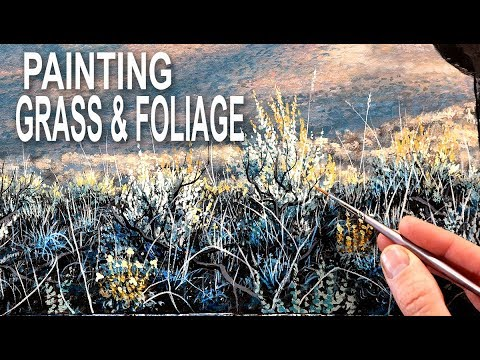 How To Paint Foliage & Grass | Paint Like A Pro #9