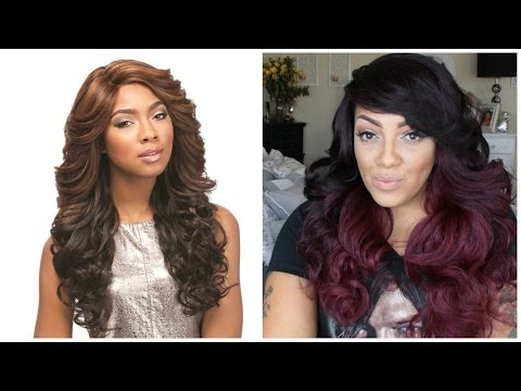 SENSATIONNEL Synthetic Lace Front Wig Empress Edge Natural Curved Part Jasi samsbeauty.com