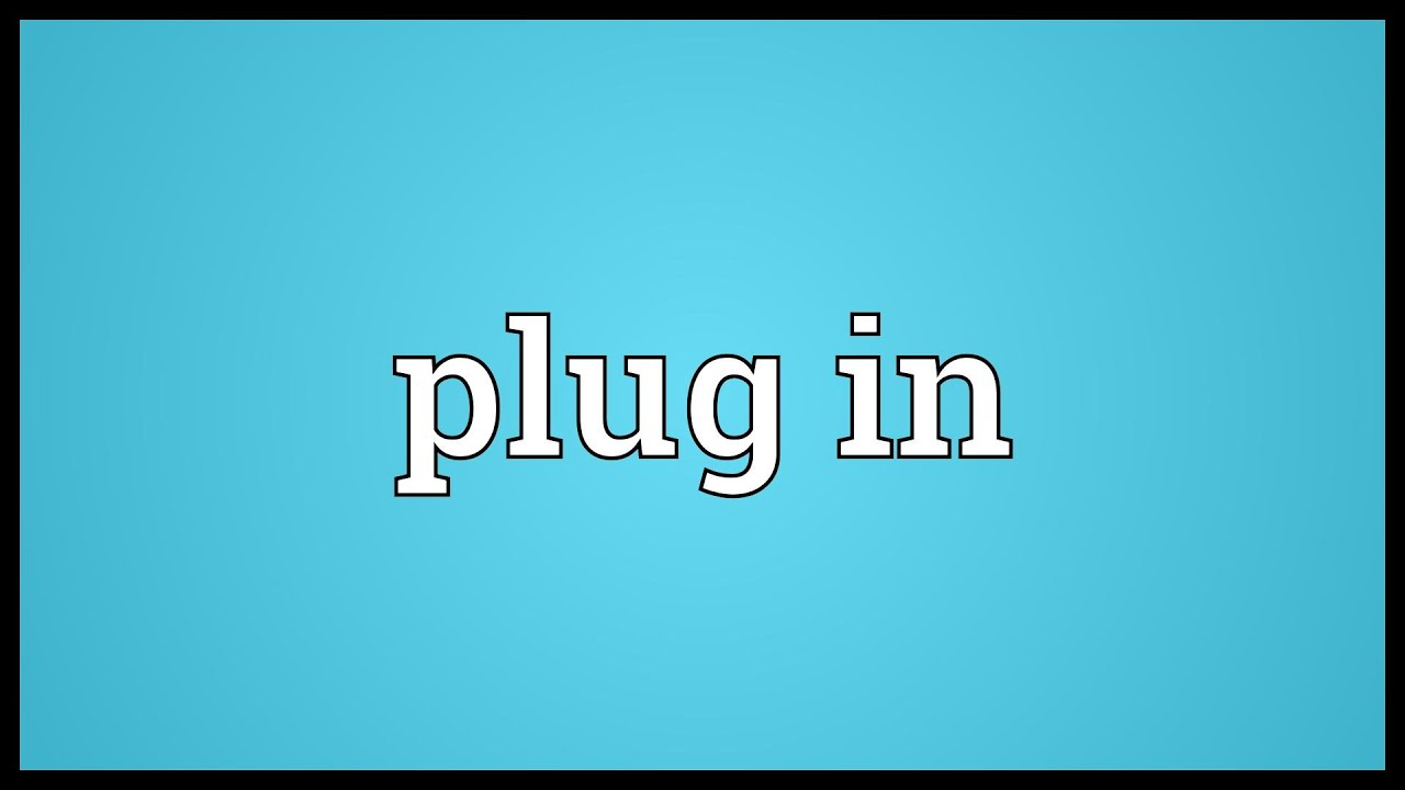 Plug in Meaning