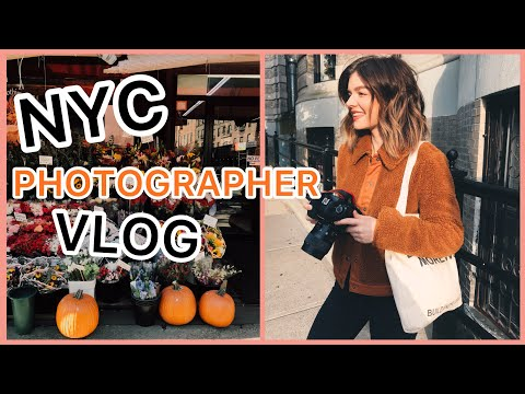 NYC VLOG | client photoshoots, photography online workshop p
