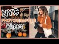 NYC VLOG | client photoshoots, photography online workshop prep, how i style my hair lol~~